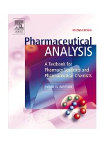 Pharmaceutical Analysis,2/e- A Textbook for Pharmacy Students and Pharmaceutical Chemists