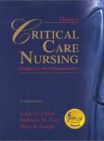 Thelan`s Critical Care Nursing(4e)
